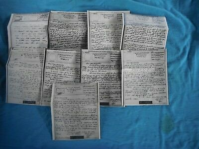 WWII V-Mail nine pieces, most dated 1943 & 1944