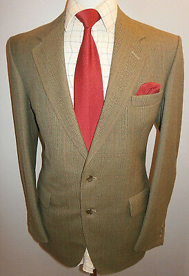c5a50bfce7bf JOHN G HARDY Mens 40R Tweed Blazer Green Check Wool Suit Jacket Sport Coat  - EUR 34