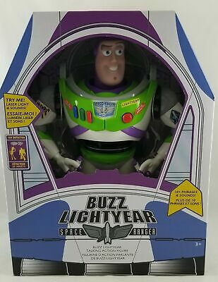 """New Disney Store Toy Story Talking Buzz Lightyear Action Figure 12"""" Real Voice"""