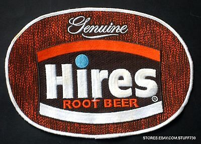 """HIRES ROOT BEER EMBROIDERED LARGE PATCH BEVERAGE SOFT DRINK  8"""" x 5 3/4"""""""