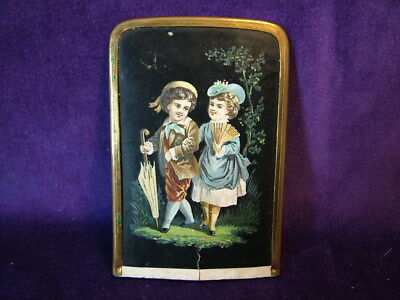 Antique late Georgian / early Victorian decoupage decorated card case