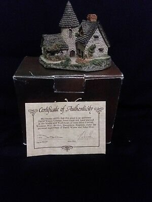 "David Winter Cottage ""The Vicarage"" ~ USED w/Box & Signed COA ~ 1985"