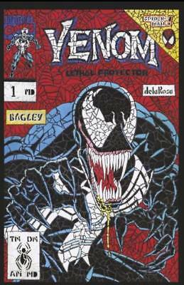 Venom First Host #1 Shattered Variant Homage To Lethal Protector #1 Ltd To 3000
