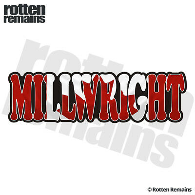 Millwright Decal Canada Canadian Flag Hard Hat Gloss Sticker HGV