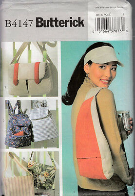 Butterick Sewing Pattern #b4147 Visor And Utility Bags
