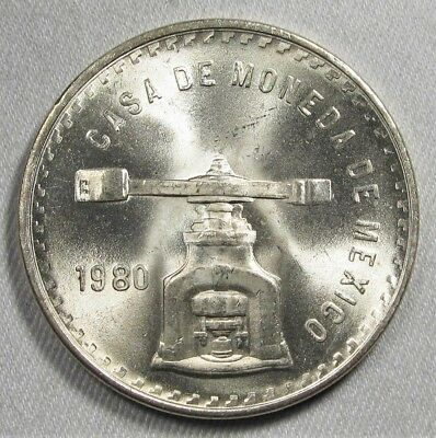 1980 Mexico 1 Onza Troy Silver Coin AG312