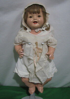 Vintage Effanbee Lovums Doll 19 Inches Composite Cloth Pat 1283558 Needs Work