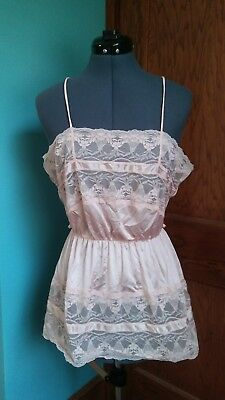 Vintage Pink Camisole with Lace