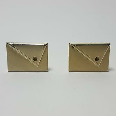Vintage Swank Gold Plated Cufflinks Retro Square Textured Goldtone