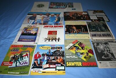 HUGE LOT of 12+ SAWYER BROWN Magazine Article Photo Clippings
