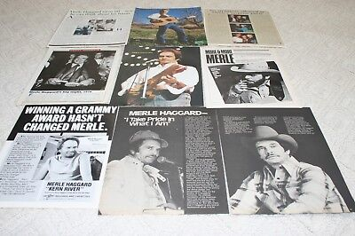 LOT of 25+ MERLE HAGGARD Magazine Article Ad Photo Clippings 002