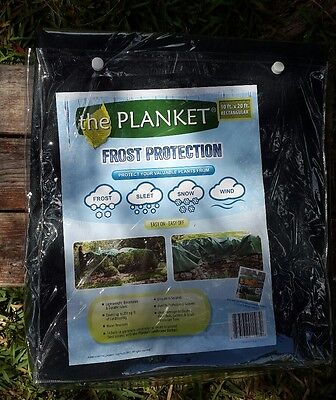 The Planket Frost Protection Plant Cover 10 x 20 ft rectangular durable fabric