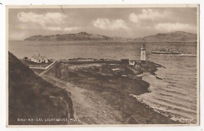 Rhu Na Gal Lighthouse Mull Vintage Postcard 868b
