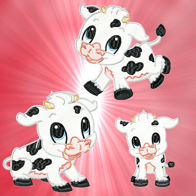 Cute Baby Cow  10 Machine Embroidery Designs Cd 2 Sizes Included