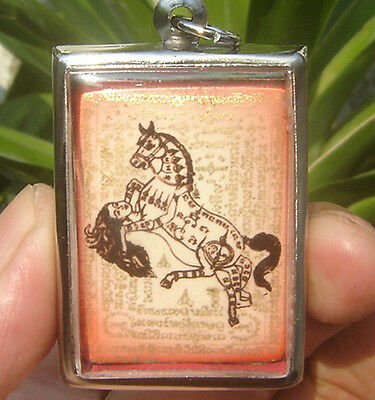"Locket Fired clay Multi love magic horse Inn Iove Lady""Yin Mar Sep Nang Amulet"""