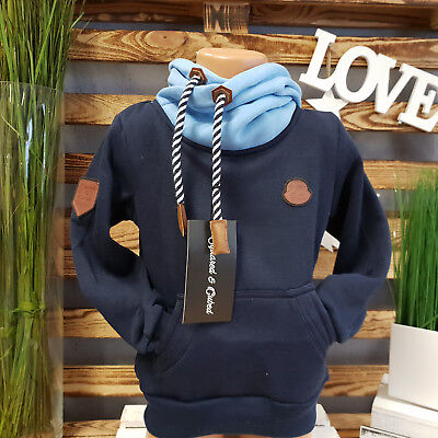 Squared & Cubed  Hoodie **just Different** Kapuzen Pullover Blau Ton Rs-004
