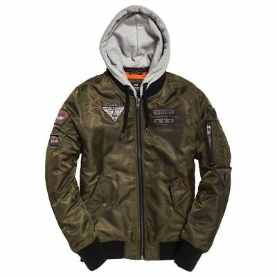 eb072875a SUPERDRY REAL ROOKIE Flight Bomber Large - £80.00 | PicClick UK
