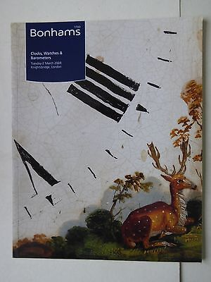 Bonhams Auctioneers Clocks & Watches Auction Catalogue 2nd March 2004