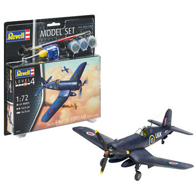 Revell 63917 Vought F4U-1B Corsair Royal Navy Model Kit with Paints (Scale 1:72)