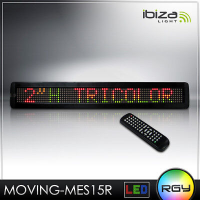 Top Led Laufschrift Ibiza Moving-Mes20Rgy Band Display Text Licht Abs Gehäuse