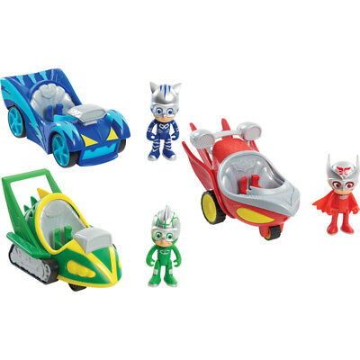 PJ Masks Speed Booster Vehicle & Figure Choose Catboy Owlette or Gekko