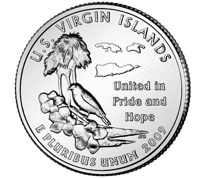 2009 P or D Virgin Islands US Territories coins from US mint rolls Money L@@k