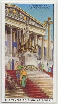 Temple Of Diana at Ephesus Greece Wonders  Ancient World  Vintage Trade Ad Card