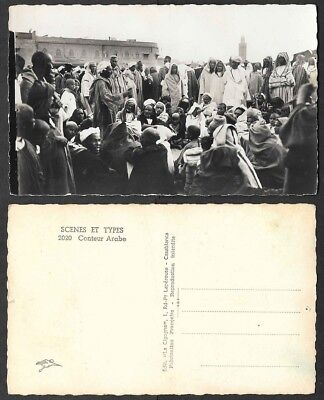 Old Morocco Real Photo Postcard - Conteur Arabe