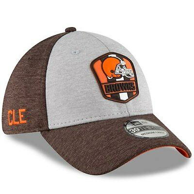 check out 70374 3bbf4 ... ireland cleveland browns new era 2018 nfl sideline road official  39thirty flex hat 9d038 30483