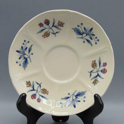 Wedgwood Williamsburg Potpourri Queen's Ware Saucer for Footed Cream Soup Bowl