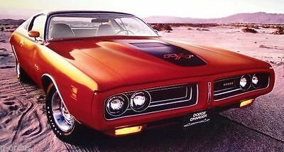 """RARE NEW 1971 DODGE CHARGER RT R/T 26"""" x 20""""  AUTHENTIC MOPAR PERFORMANCE POSTER"""