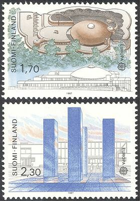 Finland 1987 Europa/Buildings/Architecture/Art/Architects/Artists 2v set (s333a)