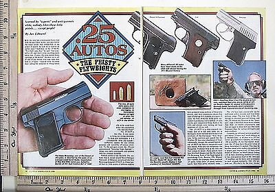 1986 25 AUTOS ~ THE FEISTY FLYWEIGHTS Pocket Pistols 6-Pg MAGAZINE ARTICLE 4369