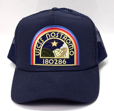4bed54520 ALIEN Movie Nostromo Crew Member Navy Trucker/Baseball Cap-Uniform/Costume