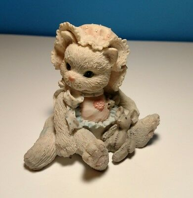 """Vintage Enesco Calico Kittens """"Love's Special Delivery"""" 1992 P. Hillman #628425"""