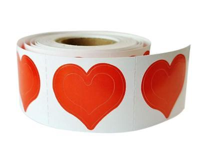 1000 Count - Roll  3 - WAY HEART Tanning Bed Sticker Scrapbooking, Crafts