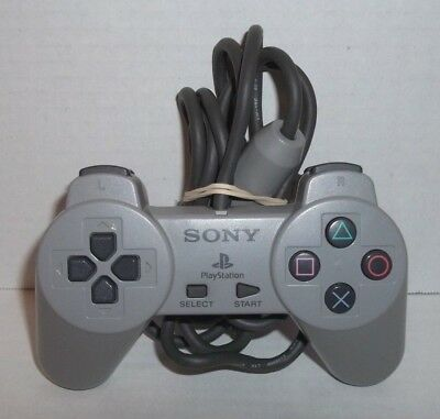 Sony Playstation 1 PS1 Official Gray Wired Controller SCPH-1080 Tested