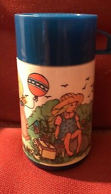 Vintage 1970's Holly Hobbie Lunchbox Thermos Aladdin  FREE SHIPPING! Clean!