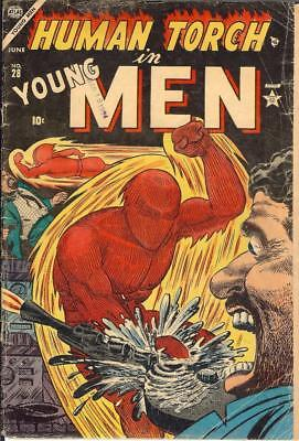 Young Men #28 Golden Age Timely Captain America Submariner Human Torch