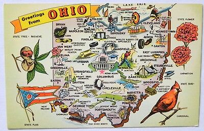 Greetings From  Ohio Postcard F918