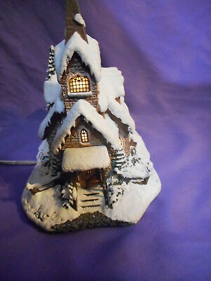 2000 Thomas Kinkade Hawthorne Village Light Of Hope Church Lighted House
