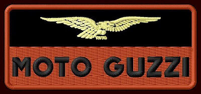 """MOTO GUZZI EMBROIDERED PATCH ~4""""x 1-3/4"""" MOTORCYCLE CENTAURO CALIFORNIA LE MANS"""