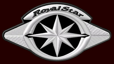 """YAMAHA ROYAL STAR EMBROIDERED PATCH ~5-1/4"""" x 3""""  XVZ 1300 CRUISER MOTORCYCLE"""