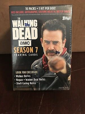 Topps The Walking Dead Season 7 Blaster Box L@@k