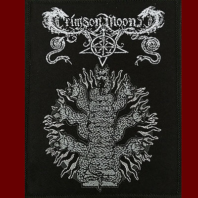 CRIMSON MOON - ONEIRONAUT SERPENT Sew On Patch Occult Black Metal Blackmetal NEW