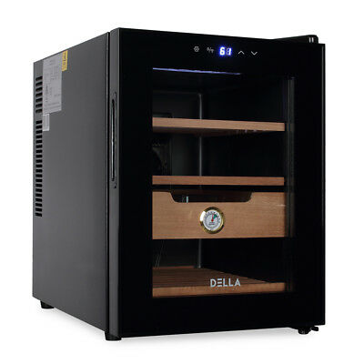 350-Capacity Freestanding Climate Controlled LED Humidor Cigar Cooler, Black