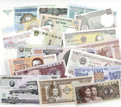 On sale 20 Pcs Different Paper Money World Banknotes Notes UNC Collection