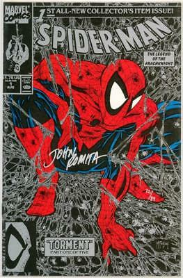 Spider-Man #1 Silver Variant Dynamic Forces Signed John Romita Sr Marvel 1990