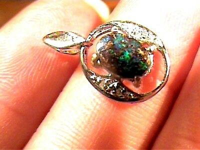 Sterling silver 925 natural boulder opal jewelry artisanal small delicate child