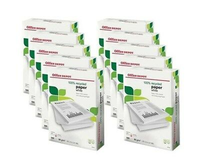 2 3 4 5 10 20 Reams White A4 80gsm Recycled Paper, Office Printer Copier Paper